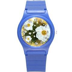 Summer Anemone Sylvestris Round Plastic Sport Watch (s)