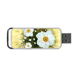 Summer Anemone Sylvestris Portable Usb Flash (two Sides)