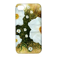Summer Anemone Sylvestris Apple Iphone 4/4s Hardshell Case With Stand