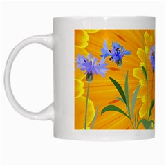 Flowers Daisy Floral Yellow Blue White Mugs