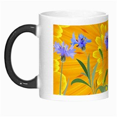 Flowers Daisy Floral Yellow Blue Morph Mugs