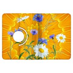Flowers Daisy Floral Yellow Blue Kindle Fire Hdx Flip 360 Case