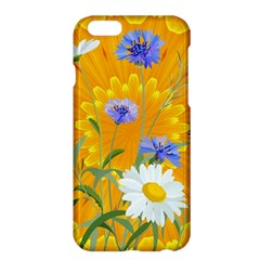Flowers Daisy Floral Yellow Blue Apple Iphone 6 Plus/6s Plus Hardshell Case