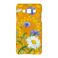 Flowers Daisy Floral Yellow Blue Samsung Galaxy A5 Hardshell Case