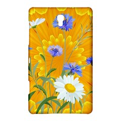 Flowers Daisy Floral Yellow Blue Samsung Galaxy Tab S (8 4 ) Hardshell Case