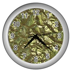 Seamless Repeat Repetitive Wall Clocks (silver)