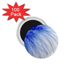 Feather Blue Colored 1 75  Magnets (100 Pack)