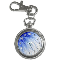 Feather Blue Colored Key Chain Watches