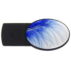 Feather Blue Colored Usb Flash Drive Oval (2 Gb)