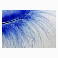 Feather Blue Colored Large Glasses Cloth