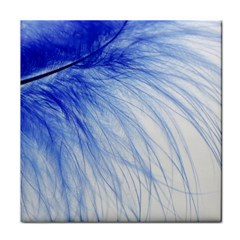 Feather Blue Colored Face Towel