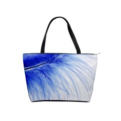 Feather Blue Colored Shoulder Handbags