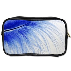 Feather Blue Colored Toiletries Bags