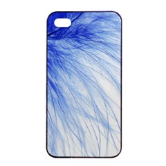 Feather Blue Colored Apple Iphone 4/4s Seamless Case (black)