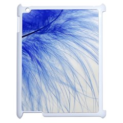 Feather Blue Colored Apple Ipad 2 Case (white)