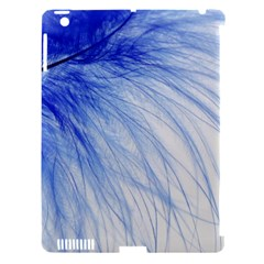 Feather Blue Colored Apple Ipad 3/4 Hardshell Case (compatible With Smart Cover)