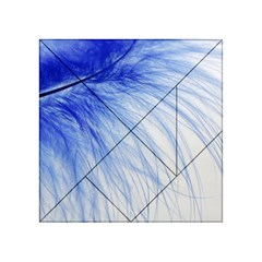 Feather Blue Colored Acrylic Tangram Puzzle (4  X 4 )