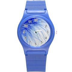 Feather Blue Colored Round Plastic Sport Watch (s)
