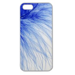 Feather Blue Colored Apple Seamless Iphone 5 Case (clear)