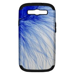 Feather Blue Colored Samsung Galaxy S Iii Hardshell Case (pc+silicone)