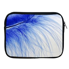 Feather Blue Colored Apple Ipad 2/3/4 Zipper Cases