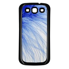 Feather Blue Colored Samsung Galaxy S3 Back Case (black)