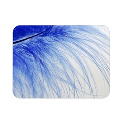 Feather Blue Colored Double Sided Flano Blanket (mini)
