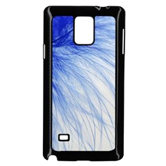 Feather Blue Colored Samsung Galaxy Note 4 Case (black)