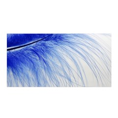 Feather Blue Colored Satin Wrap