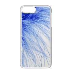 Feather Blue Colored Apple Iphone 7 Plus Seamless Case (white)
