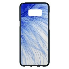 Feather Blue Colored Samsung Galaxy S8 Plus Black Seamless Case