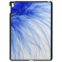 Feather Blue Colored Apple Ipad Pro 9 7   Black Seamless Case