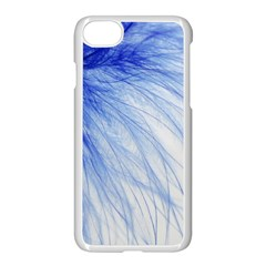 Feather Blue Colored Apple Iphone 8 Seamless Case (white)