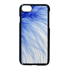 Feather Blue Colored Apple Iphone 8 Seamless Case (black)