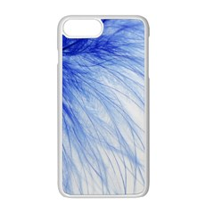 Feather Blue Colored Apple Iphone 8 Plus Seamless Case (white)