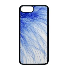 Feather Blue Colored Apple Iphone 8 Plus Seamless Case (black)