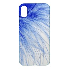 Feather Blue Colored Apple Iphone X Hardshell Case