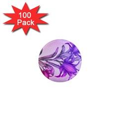 Flowers Flower Purple Flower 1  Mini Magnets (100 Pack)
