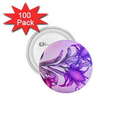 Flowers Flower Purple Flower 1 75  Buttons (100 Pack)