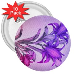 Flowers Flower Purple Flower 3  Buttons (10 Pack)