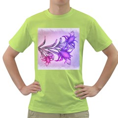 Flowers Flower Purple Flower Green T Shirt