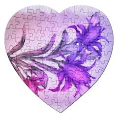 Flowers Flower Purple Flower Jigsaw Puzzle (heart)