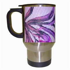 Flowers Flower Purple Flower Travel Mugs (white)