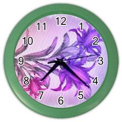 Flowers Flower Purple Flower Color Wall Clocks