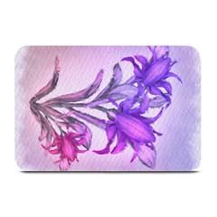 Flowers Flower Purple Flower Plate Mats