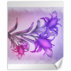 Flowers Flower Purple Flower Canvas 11  X 14