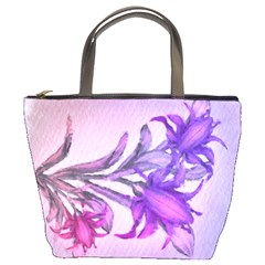 Flowers Flower Purple Flower Bucket Bags