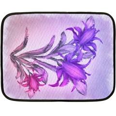 Flowers Flower Purple Flower Double Sided Fleece Blanket (mini)