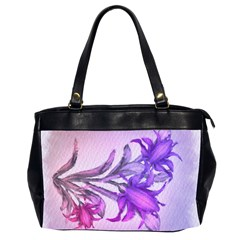 Flowers Flower Purple Flower Office Handbags (2 Sides)