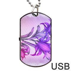 Flowers Flower Purple Flower Dog Tag Usb Flash (two Sides)